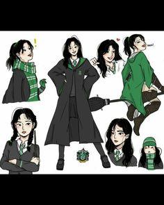 Harry Potter Drawings, Harry Potter Fan Art, Harry Potter Characters, Hogwarts Uniform, Twice Fanart, Hogwarts Mystery, Sketch Pad, Manga Couple, Arabic Funny