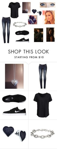 """""""Do you believe in life after love"""" by tvdlover13 ❤ liked on Polyvore featuring Elijah, NIKE, New Look, BillyTheTree, Stella & Dot and Essie"""