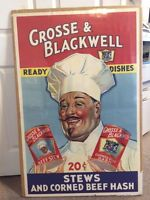 """Original Grossee and Blackwell large 29""""x 45""""  Country Store Advertising sign"""