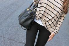 leggings for fall! Wonderful bag, of course.
