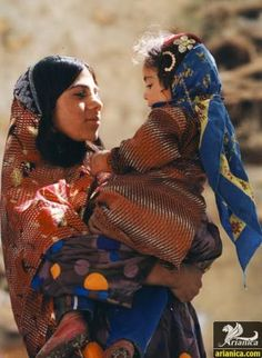 Bakhtiari Nomads - mother and her baby