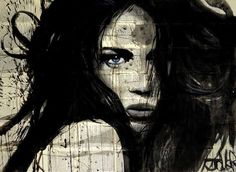 Ink Drawings Stretched Canvas Print: Arcadia by Loui Jover : - Pop Art, Poster Art, Print Poster, Portraits, Art Graphique, Stretched Canvas Prints, Creative Art, Find Art, Illustration
