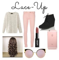 """""""Lace Up Contest Inspired Outfit"""" by themaddiemonster ❤ liked on Polyvore featuring Nolita, Balenciaga, Nature Breeze and Fendi"""