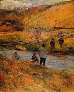 Pescadores Breton - Paul Gauguin.