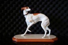 1950's Boehm Porcelain Whippet **RARE** Hallmark 120