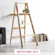 はしご木製脚立おしゃれ4段ハシゴ梯子ウッドステップラダーWoodStepLadderSize4送料無料