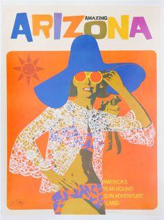 vintage arizona travel poster