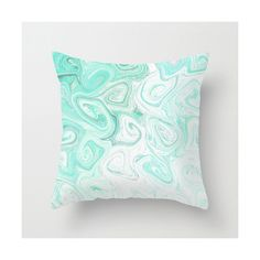 Abstract Throw Pillow Cover Mint Green White Grey Modern Home Decor... ($23) ❤ liked on Polyvore featuring home, home decor, throw pillows, black, decorative pillows, home & living, home décor, black accent pillows, grey home decor and gray throw pillows