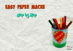 Easy Paper-Mache In Just 8 Steps Paper Mache, School Projects, Balloons, Easy, How To Make, Blog, Kids, Children, Papier Mache