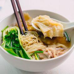 Wonton Chicken Noodle Soup - Marion's Kitchen