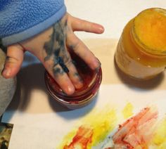 Add some aromatherapy to play time. Great recipe for gluten free all natural finger paints infused with essential oils. doTERRA's Serenity blend would be awesome in this to help calm the kids and keep them occupied.