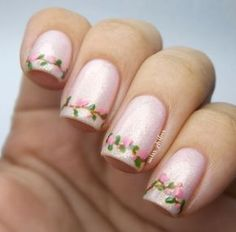 Best Nails Art Ideas For Spring Cherry Blossoms 31 Ideas Fancy Nails, Cute Nails, Pretty Nails, Acrylic Nail Designs, Nail Art Designs, Cherry Blossom Nails, Cherry Blossoms, Diva Nails, New Nail Art