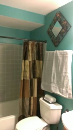 Teal And Chocolate Bathroom Brown Teal Fabric Bath Shower Curtain Set Liner Hooks Shop Kids