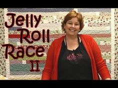 ▶ Missouri Star Quilt: Jelly Roll Race 2 - YouTube, another version of the jelly roll quilt--what fun