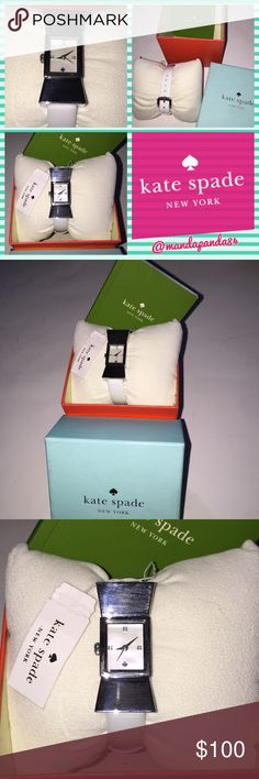 Kate Spade White Carlyle Strap Bow Watch NWT 💗 Beautiful white bow watch by Kate spade New York. Comes with tags, care card and box. Battery still works. kate spade Accessories Watches