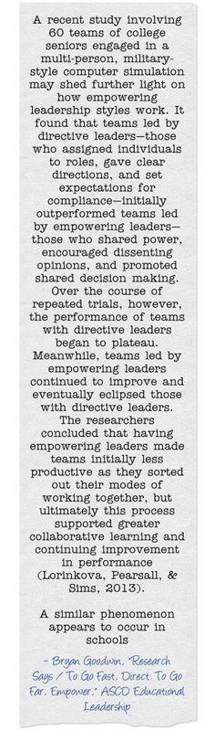 In #ELMag, research shows that empowering leaders make teams more effective. #leadership