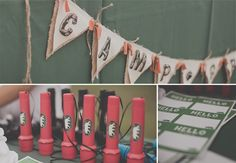 A camping birthday party - complete with sleeping-bag invitations, a scavenger hunt, and a campfire cake! | Cardstore Blog