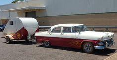 1950 Foodland and 1955 Ford Customline