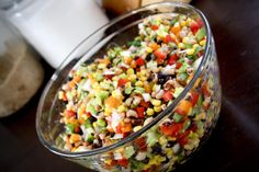 Cowboy Caviar-3   This made a TON and I halved the recipe.  Only make for a crowd!!