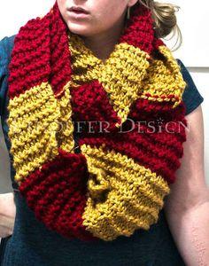 Harry Potter 25 Superb Scarves For The Fashionable Fangirl Harry Potter Scarf, Harry Potter Crochet, Harry Potter Style, Crochet Scarves, Crochet Clothes, Knit Crochet, Crotchet, Crochet Infinity Scarf Free Pattern, Crochet Patterns