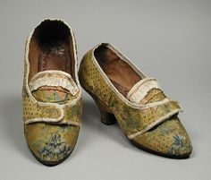 Pair of Woman's Shoes. Possibly Italy, circa 1780   LACMA Collections