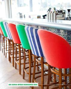 some amazing bar chairs via Bright.Bazaar