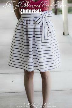 DIY Pleated Flare Skirt | Sewing patterns, Equation and Skirts