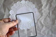 Did you know you can die-cut doilies? So cool! Teri used the Story Card DIY Steel Die (from TechniqueTuesday.com) to die-cut this doily here.