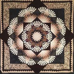 Woodcarver's Star ~Quiltworx.com, made by CI Eileen Urbanek