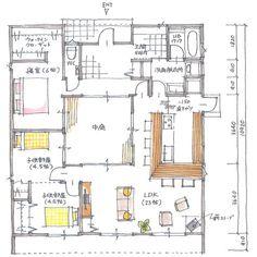 清家修吾さんはInstagramを利用しています:「. 【ボツプラン275】 楽しそうな間取りやね。 寝室から子供部屋に行けるよう、壁に穴が空いてると面白そう。 . 本棚が動いて通路が出てきたり、掛け軸の裏に隠し扉があるような家に憧れます。 . そんな設計もして欲しいです。 . . #collabohouse #コラボハウス…」