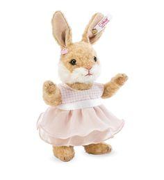 "Steiff™ Valerie Rabbit Collectible Alpaca Plush Toy 6¾"""