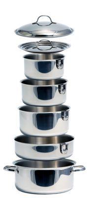 Kuuma 10-Piece Nesting Stainless Steel Cookware Set