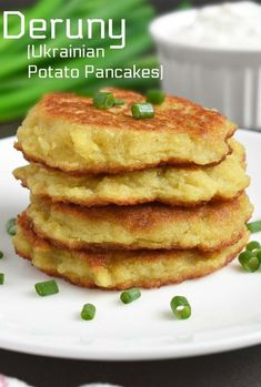 These are classic Ukrainian Potato Pancakes also called Deruny. Serve for breakf… These are classic Ukrainian Potato Pancakes also called Deruny. Serve for breakfast, as. Brunch Recipes, Appetizer Recipes, Breakfast Recipes, Breakfast Appetizers, Ukrainian Recipes, Russian Recipes, Lithuanian Recipes, Ukrainian Food, Russian Foods