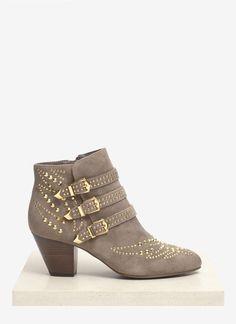 dbd488b5da0 Ash - Gray Joyce Studded Suede Ankle Boots - Lyst