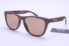 Oakley Sunglasses Frogskins Replica Deep Brown -- Brown Lenses $12.96