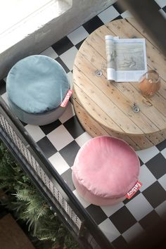 Pouf The Point Velvet Taupe Fatboy Velvet Serie, Shake, Boutique Deco, Pouf Ottoman, Thinking Outside The Box, Sustainable Design, Bean Bag, Foot Rest, Living Room