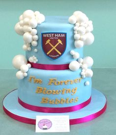 Image result for west ham birthday cakes 30 Birthday Cake, 70th Birthday, 40th Cake, Blowing Bubbles, West Ham, Buttercream Cake, No Bake Cake, Fondant, Birthdays