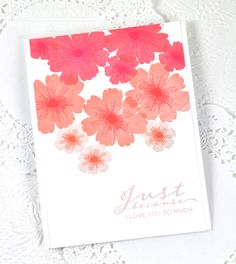 Just Because Card by Dawn McVey for Papertrey Ink (June 2015)