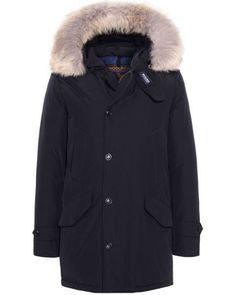 Woolrich mantel blau