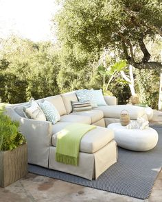 cozy outdoor sectional