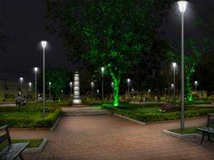Parque 29 de Mayo - Ocaña - después (simulación de noche)