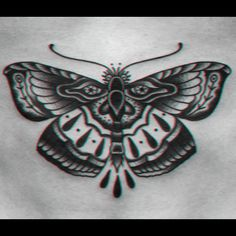 Butterfly tattoo on stomach #Tattoo #Butterfly #Moth #Stomach
