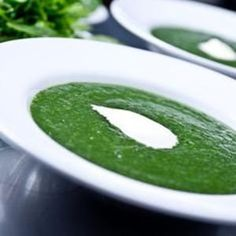 Sunchoke, Ramp and Nettle Soup. You can't get more spring than that. From No Recipes, found at www.edamam.com.