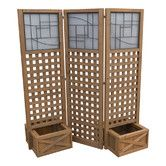 Found it at Wayfair - Faux Glass Privacy Screen with Planter Boxes