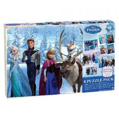 Disney Frozen 8 Puzzle Pack from Cardinal Industries | Time to Play | TTPM.com