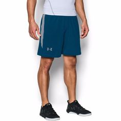 "Under Armour Mens 8"" UA Raid Loose Fit XL 2XL Blue Gray Shorts 1257825-997 #Underarmour #Shorts"