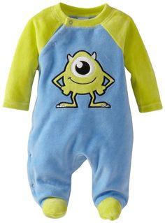 Disney Baby Baby-Boys Newborn Monsters U Velour Sleep Footie, Blue/Green, Months Disney Baby Clothes, Baby Kids Clothes, Baby Boy Newborn, Baby Baby, Toddler Outfits, Baby Boy Outfits, Baby Kind, Baby Boy Fashion, Baby Fever