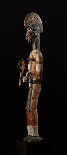 Igbo Mmwo mask - SOTHEBY'S AFRICAN, OCEANIC AND PRE-COLUMBIAN ART SALE N07996 AUCTION DATE 14 May 04 10:15 AM. LOCATION New York LOT 53 AN IMPORTANT IGBO FEMALE FIGURE ESTIMATE 40,000—60,000 USD Lot Sold. Hammer Price with Buyer's Premium: 90,000 USD MEASUREMENTS height 54 1/4 in. 1.38m