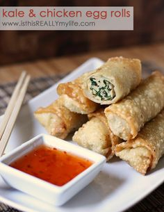 Kale & Chicken Egg Rolls