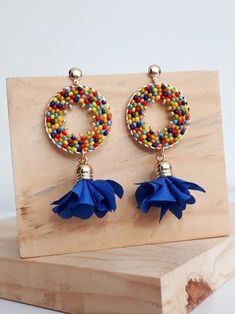 Drop Earrings, Jewelry, Fashion, Handmade Jewelry, Made By Hands, Jewels, Craft, Necklaces, Blue Fabric
